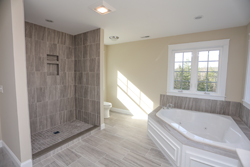 Luxury spa like bathroomd from great home builders in NH